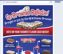 Great American Cookies Brownie Ballistic Facebook App